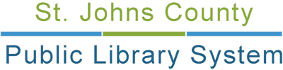 Find out more about St Johns County Public Library System: Library website, hours, locations, catalog, Inter-Library Loan, Genealogy Information, etc